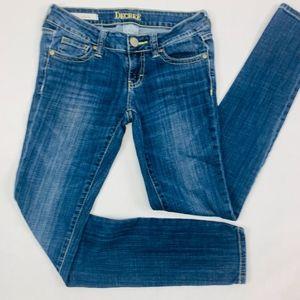 Decree Womens Jeans 1 Blue Super Skinny Stretch